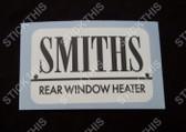Smiths Rear Window Heater Sticker/Decal