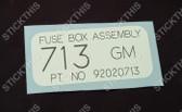 Fuse Box Decal - VK