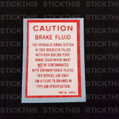 Brake Fluid Caution - LJ HK HT HG