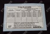 Tyre Placard - Holden VL Wagon Decal Sticker 92036442 ST