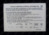 Emission Decal 5.0L - HJ - HZ, LH LX and VB (ADR 27A)