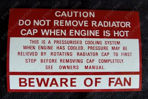 Fan Beware Decal - HZ VB and LX
