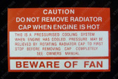 Fan Beware Decal - WB, VC-VL, VN and VP (V8)