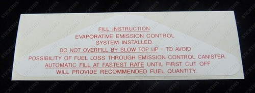 Fuel Flap Decal. HJ-WB and LH,LX