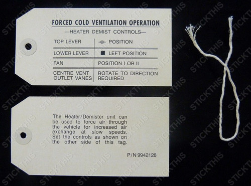 Heater Control Tag and String - LH LX UC