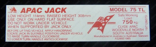 Jack Decal - HX HZ WB Ute and Van