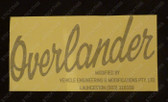 Overlander Body Decal