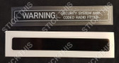 Warning Security System and Coded Radio Fitted 1/4 Window Decals VP-VS