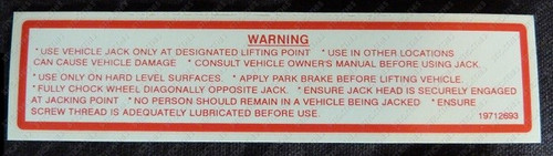 Jack Decal Warning, VN-VT