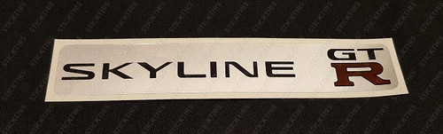 Skyline R33 Strut Brace Decal