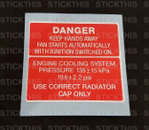 Fan Warning Decal VN VG VP VR VS VQ - V6