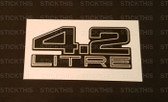 Boot Badge V8 4.2 Litre - Flat Decal