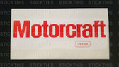 Motorcraft 12V 61ah Battery Decal 72-76