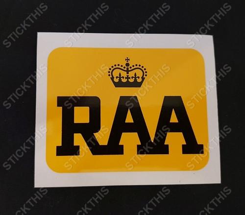 RAA Decal - Royal Automobile Association South Australia 70/80's