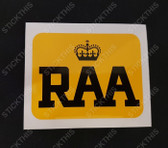 RAA Decal - Royal Automobile Association South Australia 70/80's