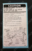 Jack Instruction Decal - HZ Statesman with M71 Wire Wheels