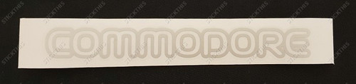 "VN LS ""Commodore"" Boot Decal"