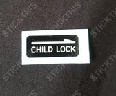 Child Lock Door Decal VS