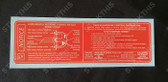 Vehicle Emission Control Information & SRS Decal LY - VT Series 1 5.0L V8