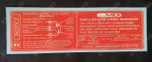 Vehicle Emission Control & SRS Decal KR - Export V8 LS1 1999-2002 Chevrolet Caprice, Lumina, Omega, Pontiac
