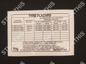 Tyre Placard - 92043210ND TN