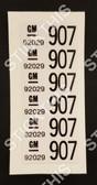 Wire Harness Label - VL Body Loom Sedan 92029907