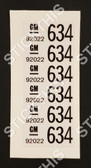 Wire Harness Label - VL Body Loom Roof Rail Police Equipment 92022634