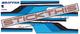 CL Drifter Ute Stripes - Light Blue, Mid Blue, Black