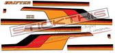 Chrysler CL Valiant Drifter Ute Stripes - Orange, Red, Black