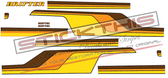 Chrysler CL Valiant Drifter Ute Stripes - Yellow, Orange, Brown, Black