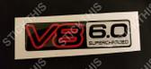 VN V8 6.0 Supercharged Boot Badge