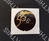 50th Anniversary HX Glovebox Badge Decal
