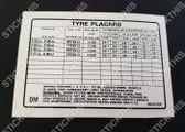 Tyre Placard - 9945286DM - Torana LX 6cyl SS, SLR and V8 SLR, SS, SL, S