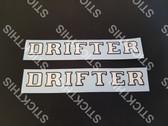 Chrysler CL Valiant Drifter Guard Decal - Suit Alpine White