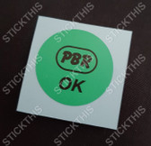 PBR OK Decal Green - WB Brake Booster