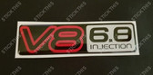 VN V8 6.8 Injection Boot Badge