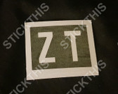 "Rocker Cover Paint Mask Stencil ""ZT"" - V8 WB"