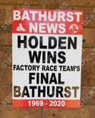 Bathurst News Holden Wins Factory Race Team's Final Bathurst Poster