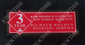 3 Year Warranty VR - VX 1/4 Holden Dealer Service Window Decal