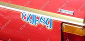 TE Gemini Gypsy Stripe and Decal Kit.  - Gold, White, Orange and Blue