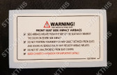 Front Seat Side Impact Airbags Warning Decal VT-VZ