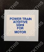 VL HDT Power Train Additive 50ml For Motor