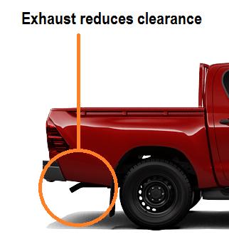 Toyota Hilux standard exhaust