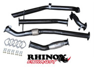 3 inch Turbo Back Exhaust System to suit Nissan Navara D22 2.5L with diesel cat and muffler delete pipe