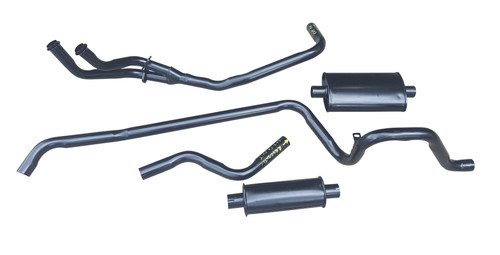 HR Holden complete exhaust system with header pipe manufactured in mild steel