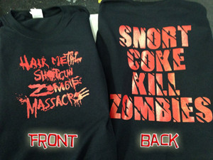 Hairmetal Shotgun Zombie Massacre T Shirt Fast Custom Shirts