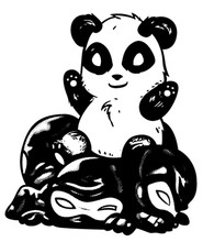 Panda vs Ninjas T-Shirt