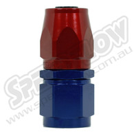 A straight AN hose end made from quality aluminium at Speedflow. These are a cutter design for a leak free seal when used with our quality 100 Series braided hose and available in all common AN sizes. Anodised in Red and Blue at our in house facilities.
