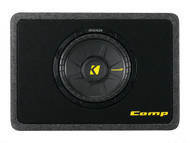"Kicker TCWS104 Ported truck enclosure with one 4-ohm 10"" CompS Subwoofer"