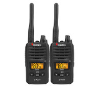 Uniden UH820S-2  80CH 2W UHF Handheld Radio Twin Pack